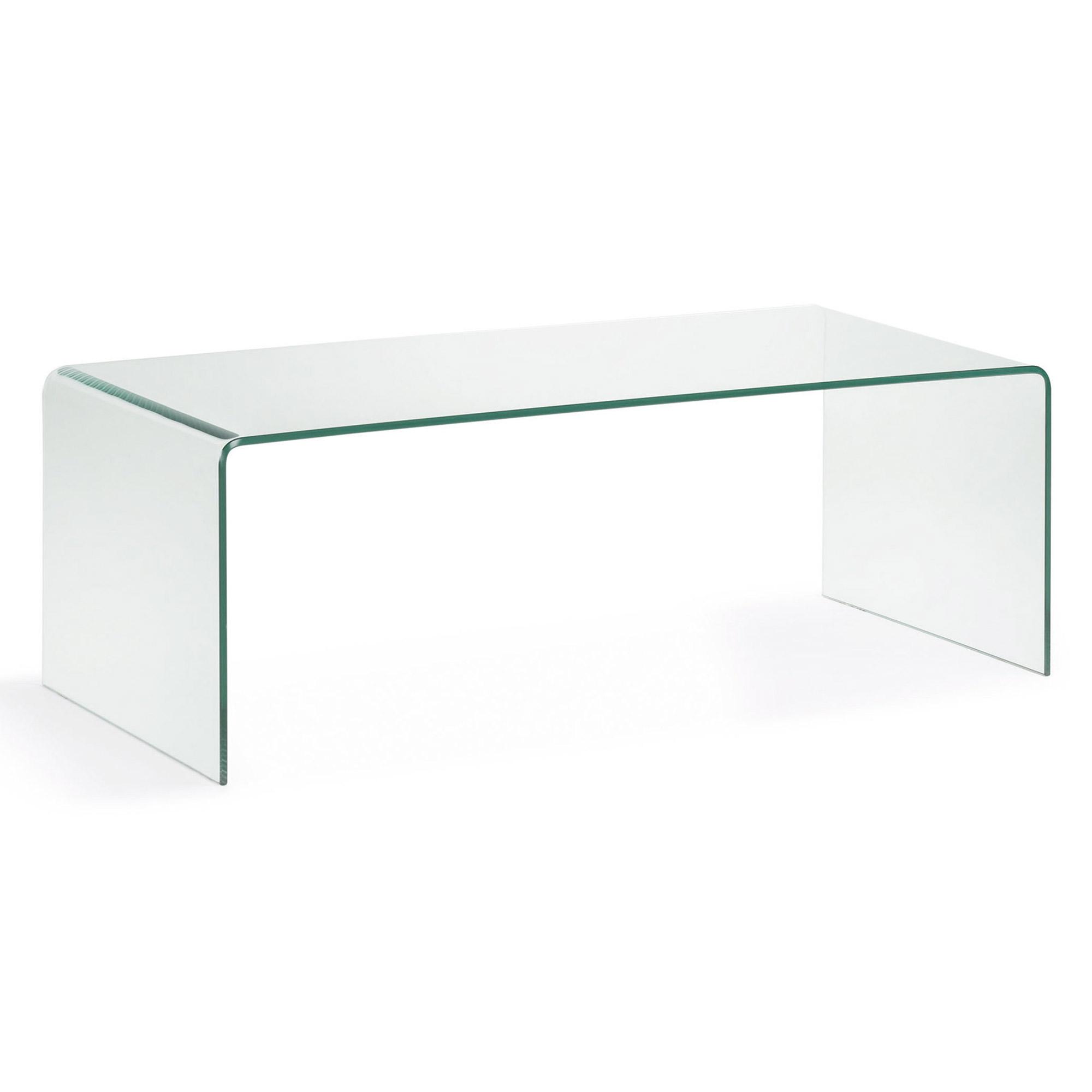 burano mesa auxiliar 110x50x38 cristal transparent en