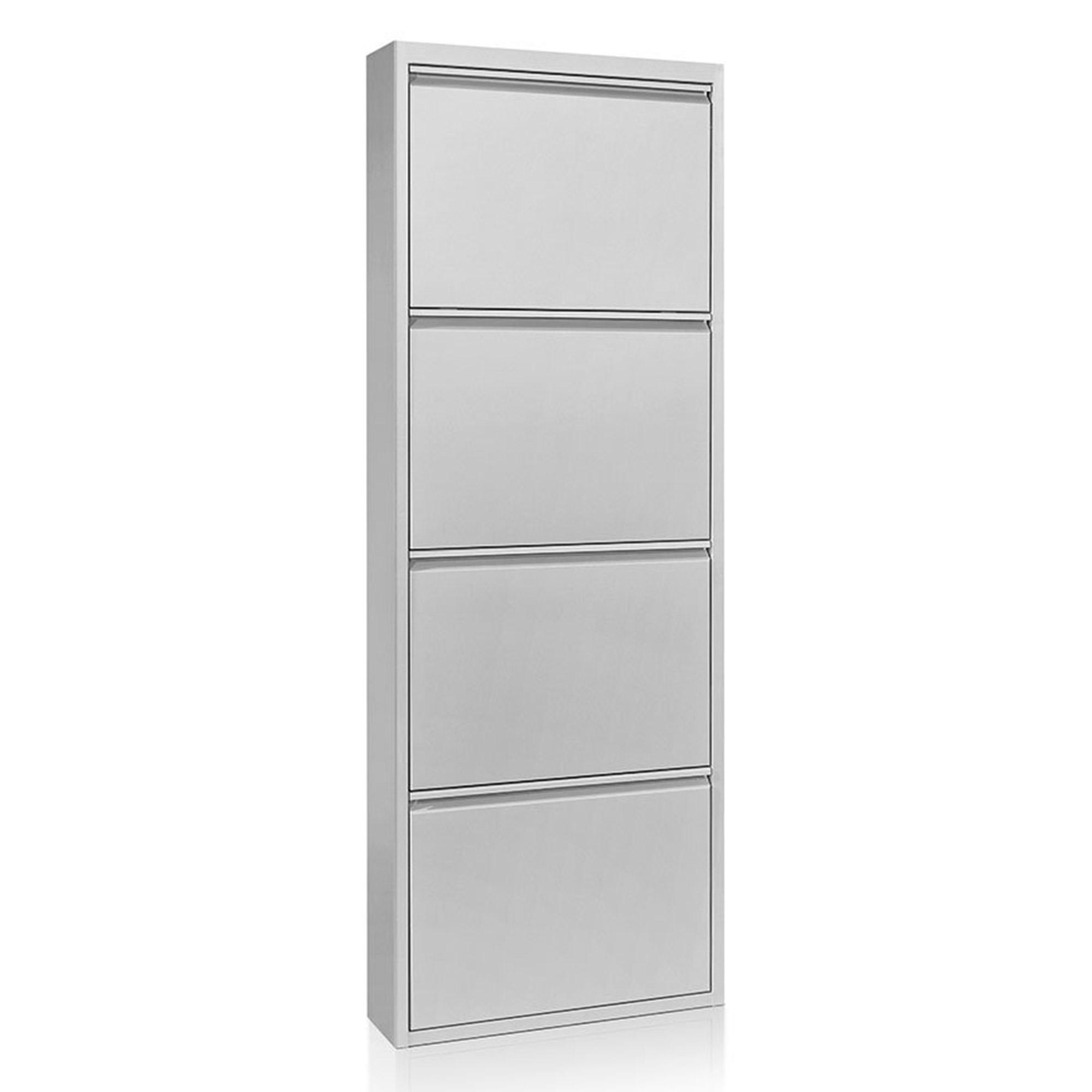 Zapatero 15 4 puertas metal plata no disponible en for Zapatero metalico 4 puertas