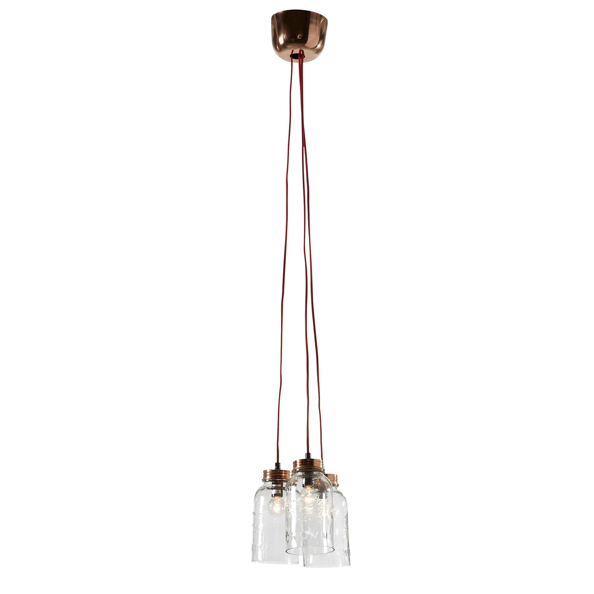 Lámpara de techo Nolan C07 cristal transparente