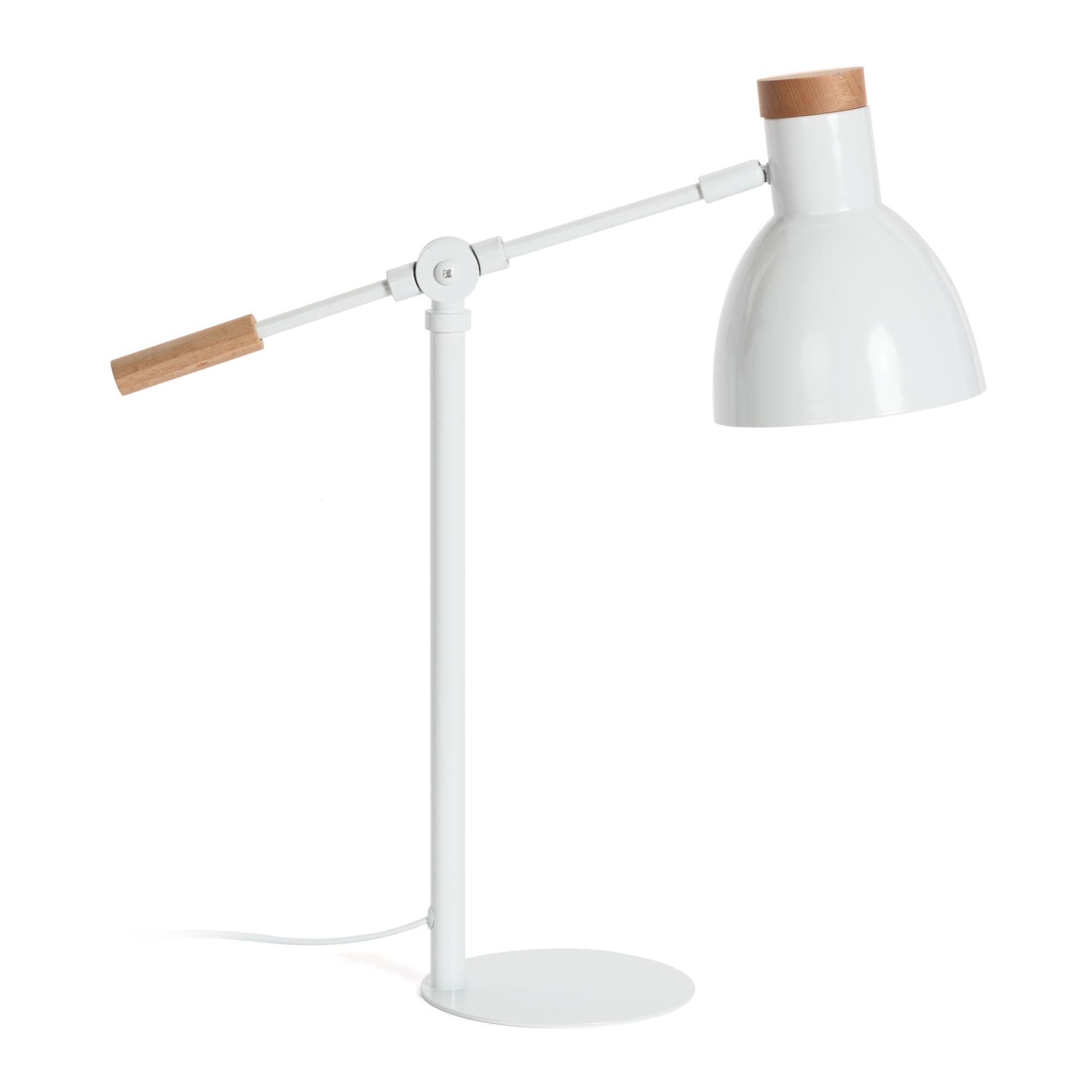 SCARLETT Lampara De Mesa Metalica Blanco Puro R05