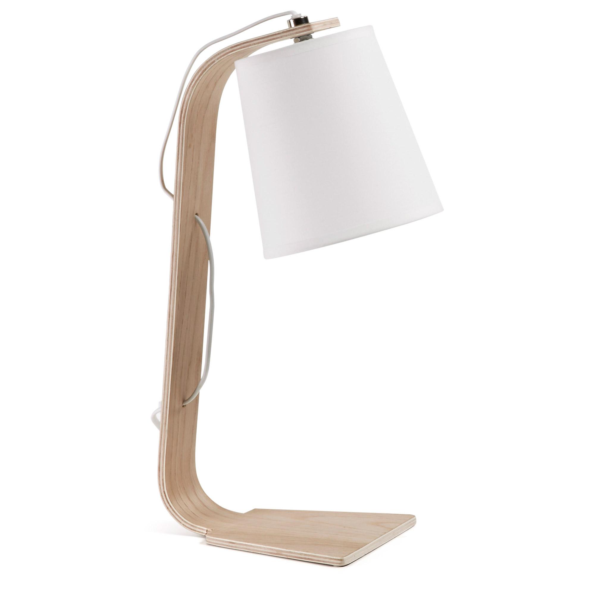 Lámpara de escritorio Percy blanca