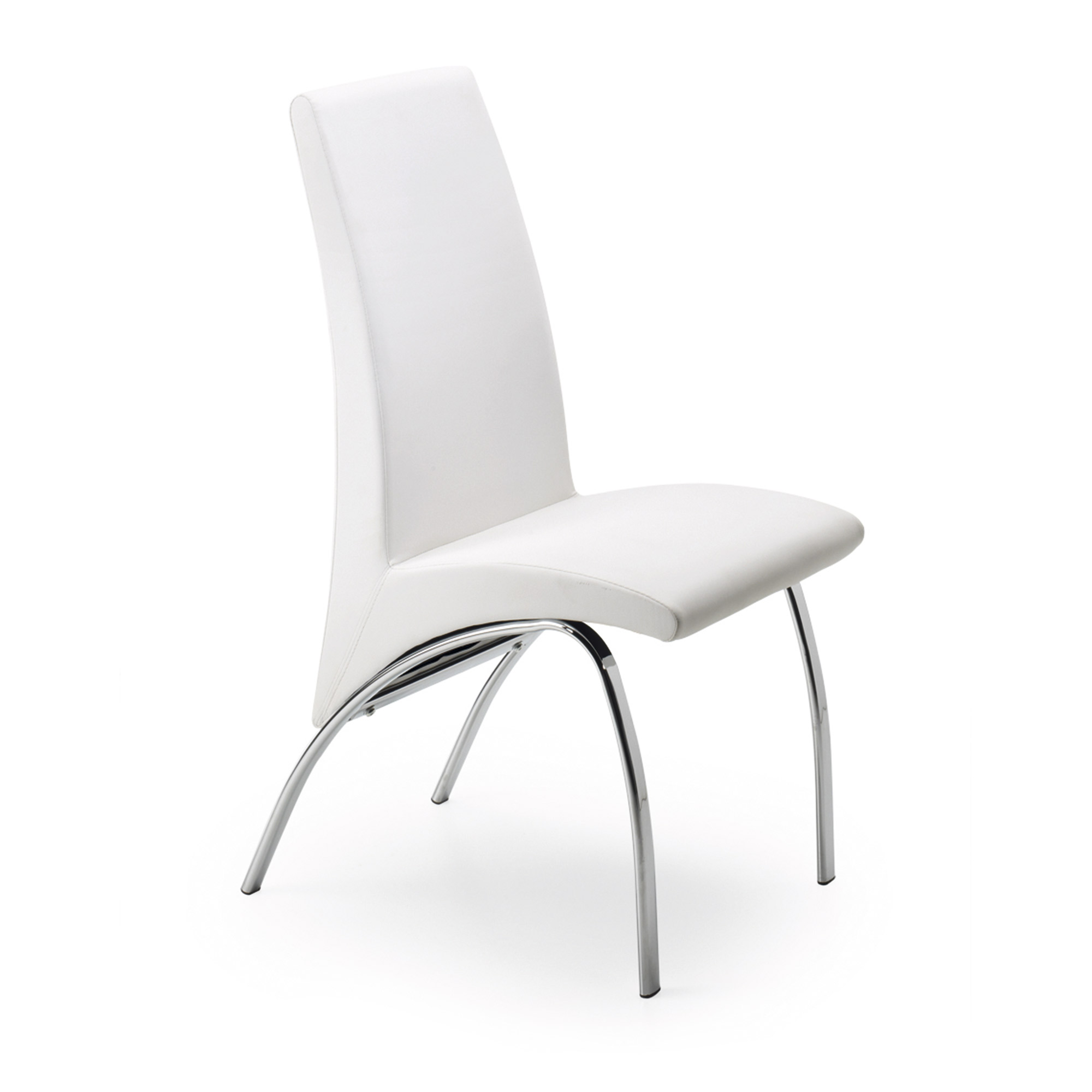 Zicar silla cromado pu blancopuro u05 en for Sillas comedor madrid