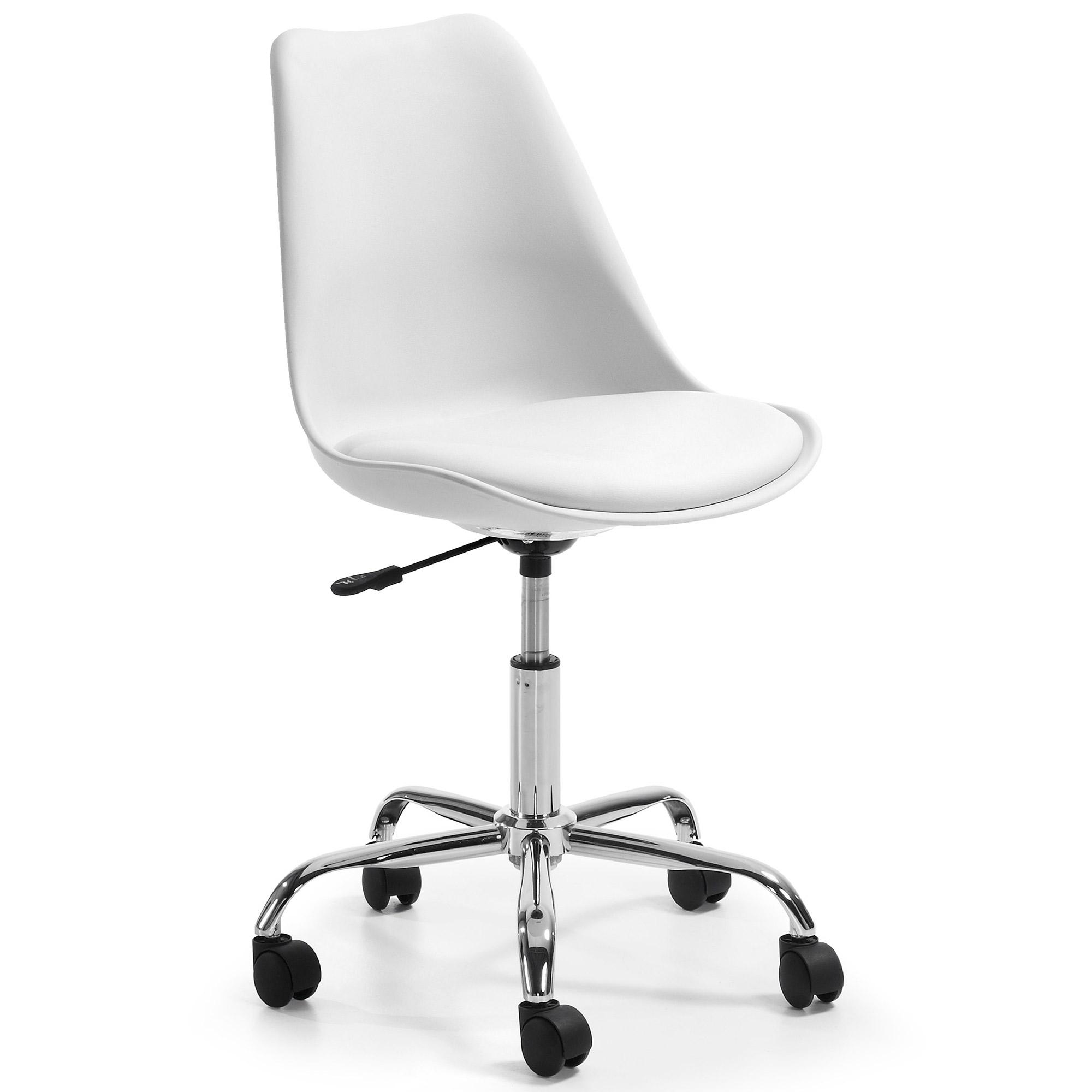 Silla giratoria orlando blanca asiento blanco no for Sillas de oficina blancas