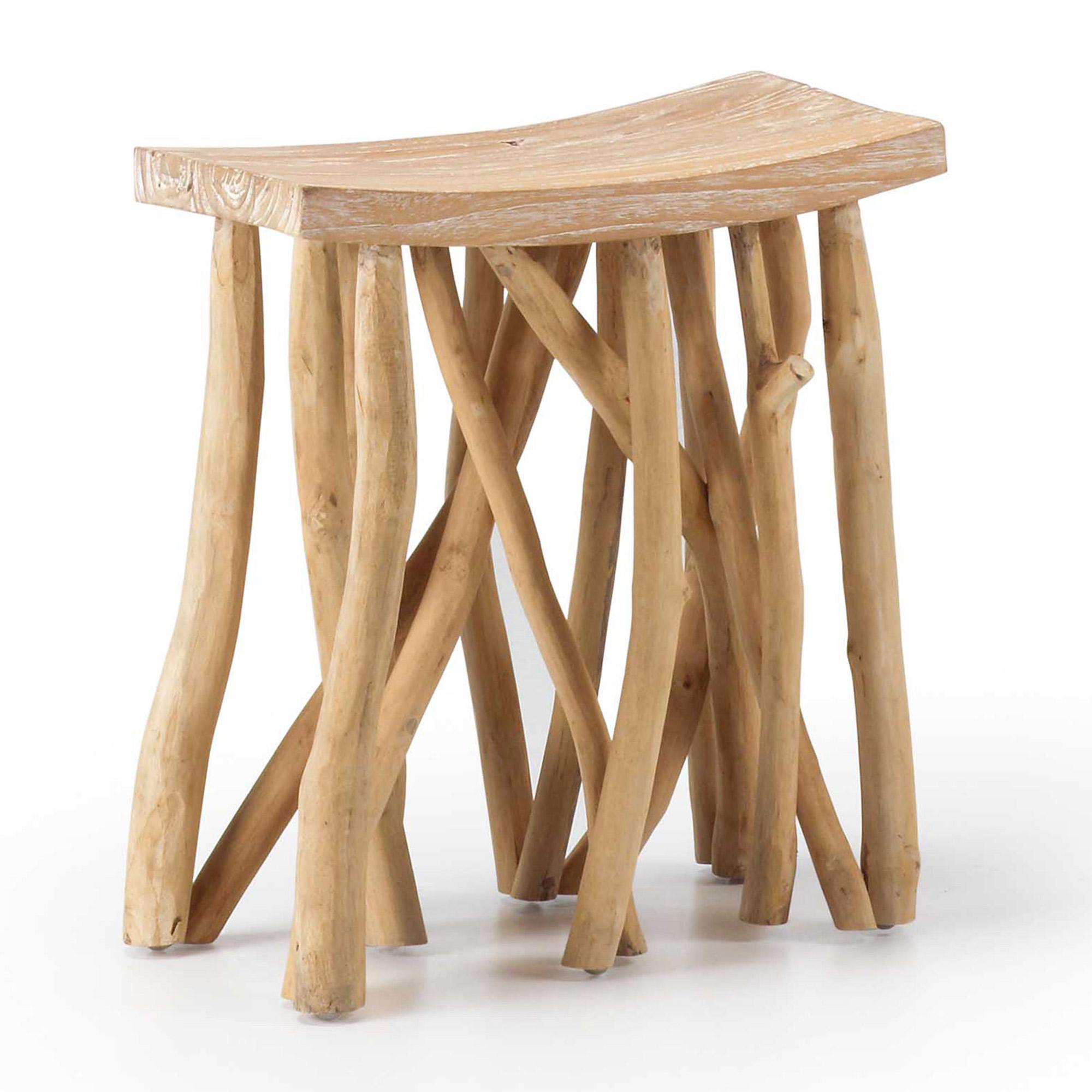 Taburete batavia en madera de teka en for Taburetes de madera