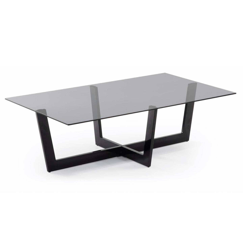 Mesa de centro negra moderna plum en - Mesas de centro de cristal ...