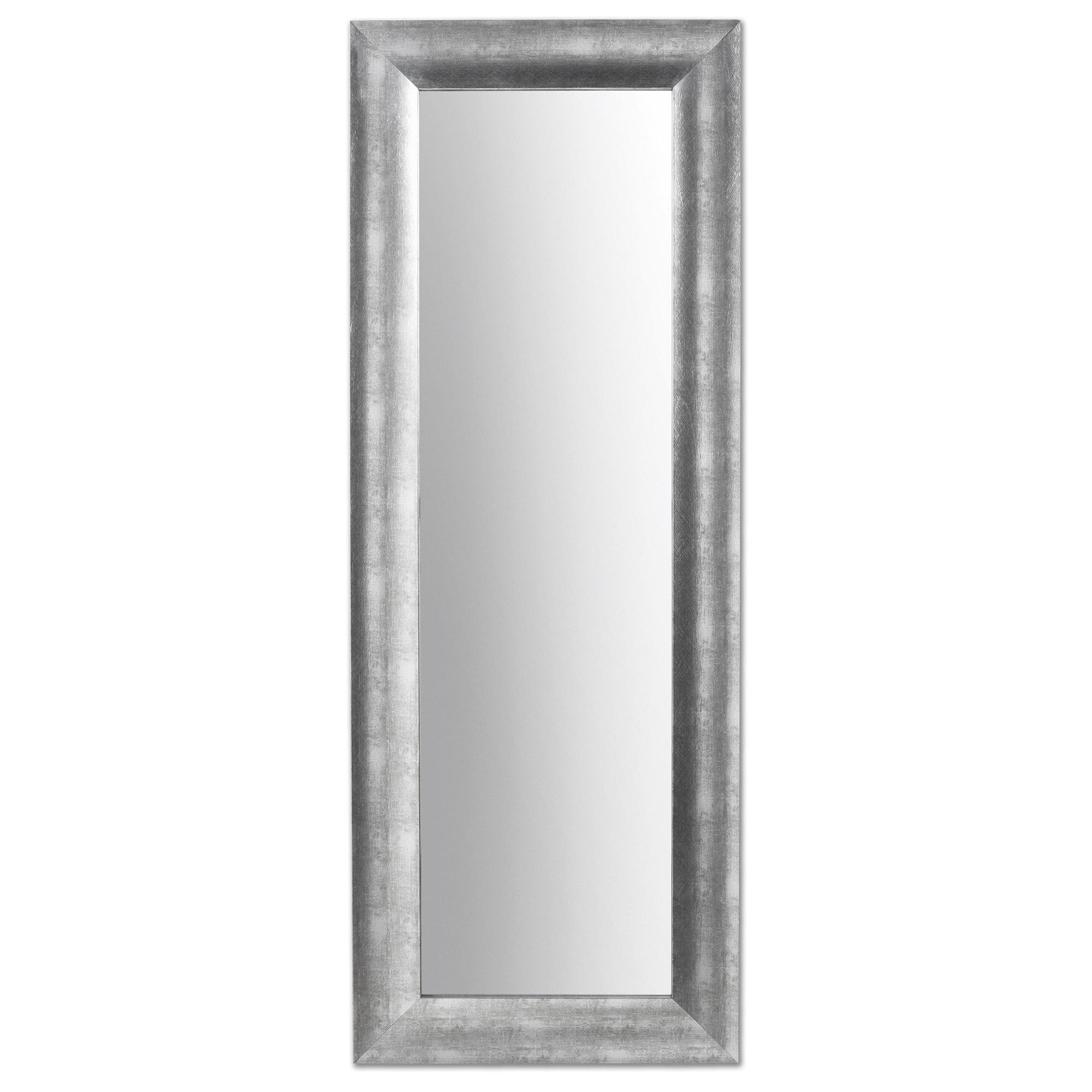 Espejo Misty en madera plata