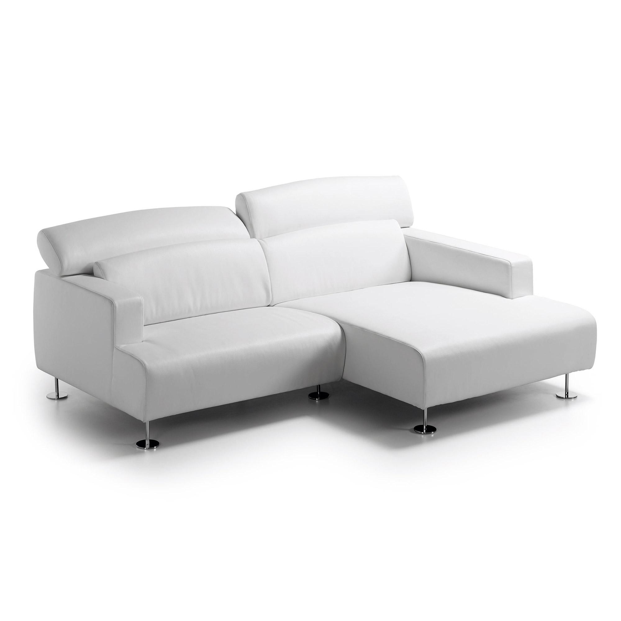 living sofa 3 p chaise dcha recl eco piel blanco puro. Black Bedroom Furniture Sets. Home Design Ideas