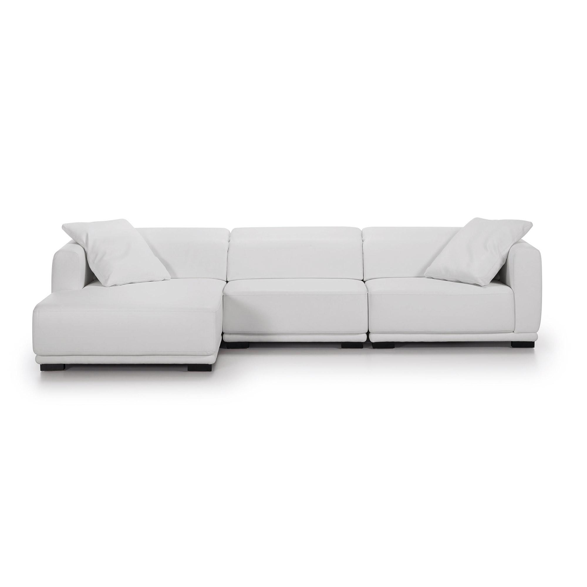 italy sofa 3p chaise izda recl eco piel blanco puro ep05. Black Bedroom Furniture Sets. Home Design Ideas