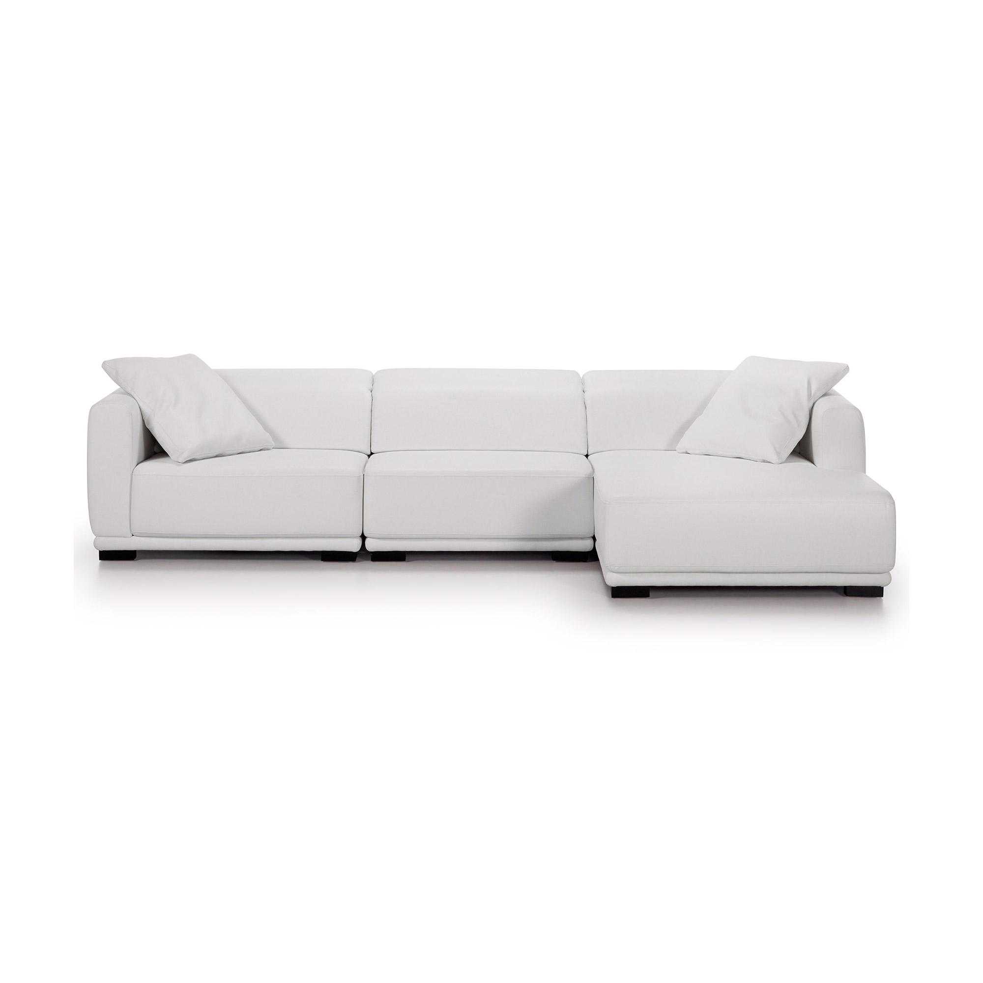 italy sofa 3p chaise derecha recl eco piel blanco puro. Black Bedroom Furniture Sets. Home Design Ideas