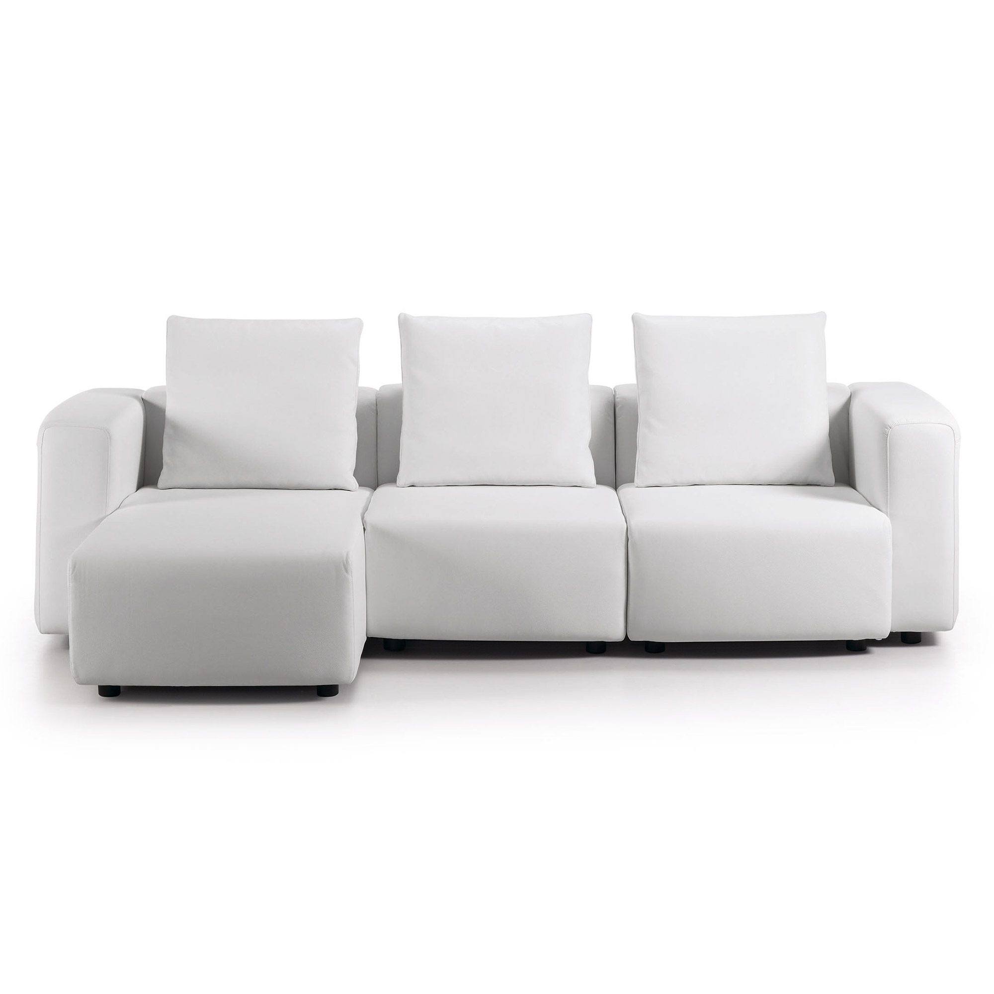 module sofa 3p chaise eco piel blanco puro ep05 no. Black Bedroom Furniture Sets. Home Design Ideas